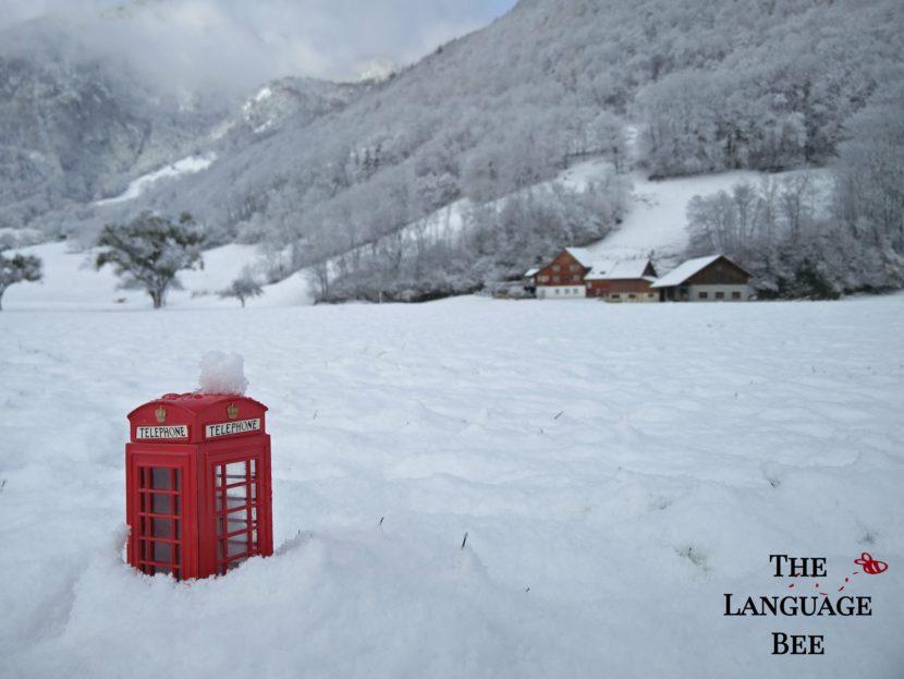 The Language Bee Phonebox Snow Rüthi Rheintal